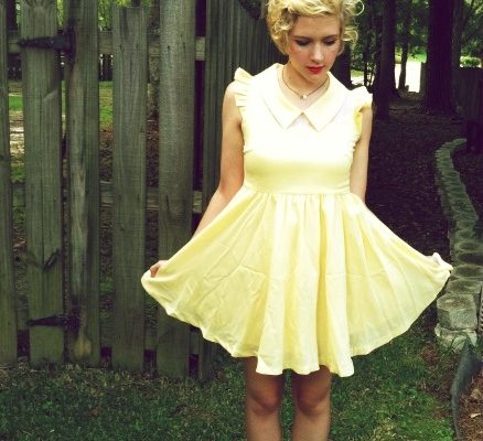 yellow dress chicwish